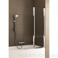 Шторка на ванну Aquaform Modern 2 хром/прозоре