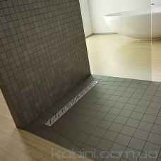 Душова плита Radaway прямокутна (1090x890) з лінійним трапом вздовж довгої сторони під кахель 8-12 мм