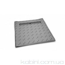 Душова плита Radaway квадратна (1090x1090) з лінійним трапом під кахель 5-7 мм
