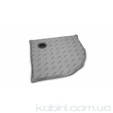 Душова плита Radaway напівкругла (990x990) з компактним трапом