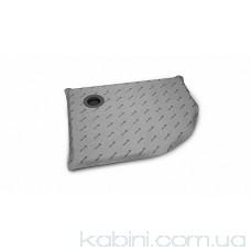 Душова плита Radaway напівкругла (990x790) асиметрична з компактним трапом
