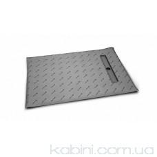Душова плита Radaway прямокутна (1090x790) з лінійним трапом вздовж короткої сторони під кахель 5-7 мм