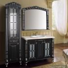 Комплект меблів  Атолл Олександрія 100 Black фасад каннелюри, камінь