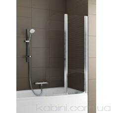 Шторка на ванну Aquaform Modern 2 матовий хром/прозоре