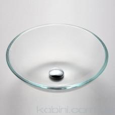 Умивальник Kraus GV 100-12 мм скляний
