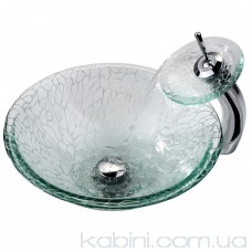Умивальник Kraus Broken Glass GV 950-12 мм скляний